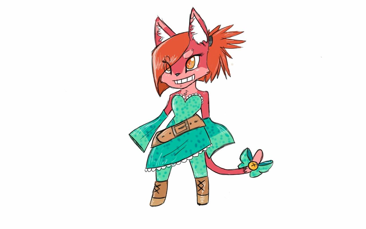 The cat girl by monkeyman19t