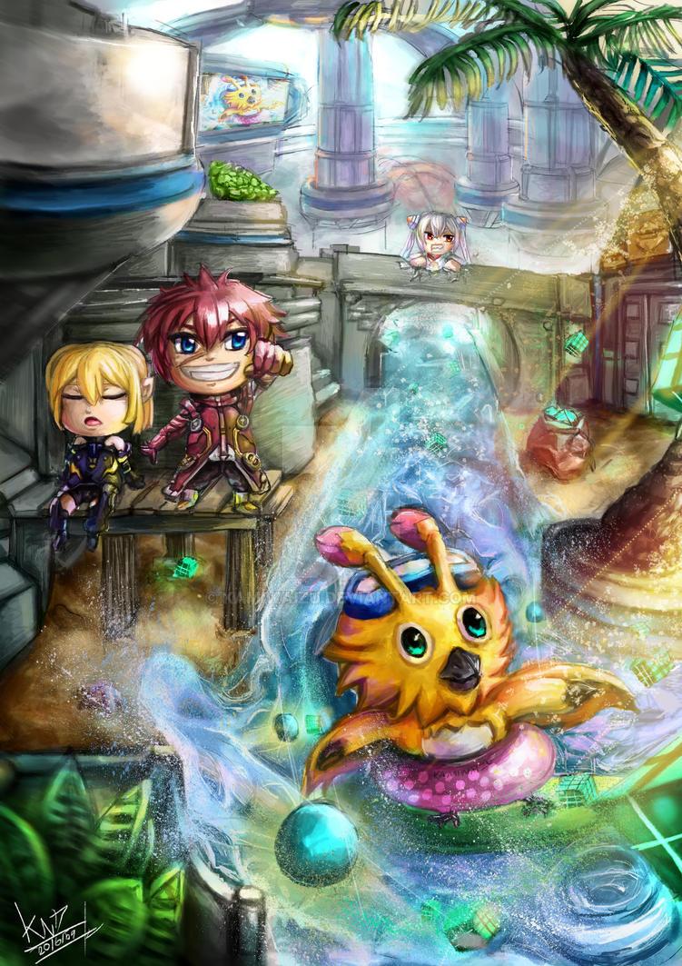 [FanArt of PSO2 Contest #2]-SD-RabbyTakeStoreHouse by KamiwaiZu