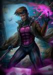 The Gambit : Marvel X-Men by KamiwaiZu