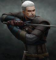 Geralt of Rivia by Radiusism