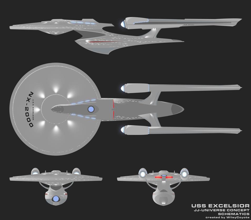 JJ Excelsior Schematics By Trekmodeler ...
