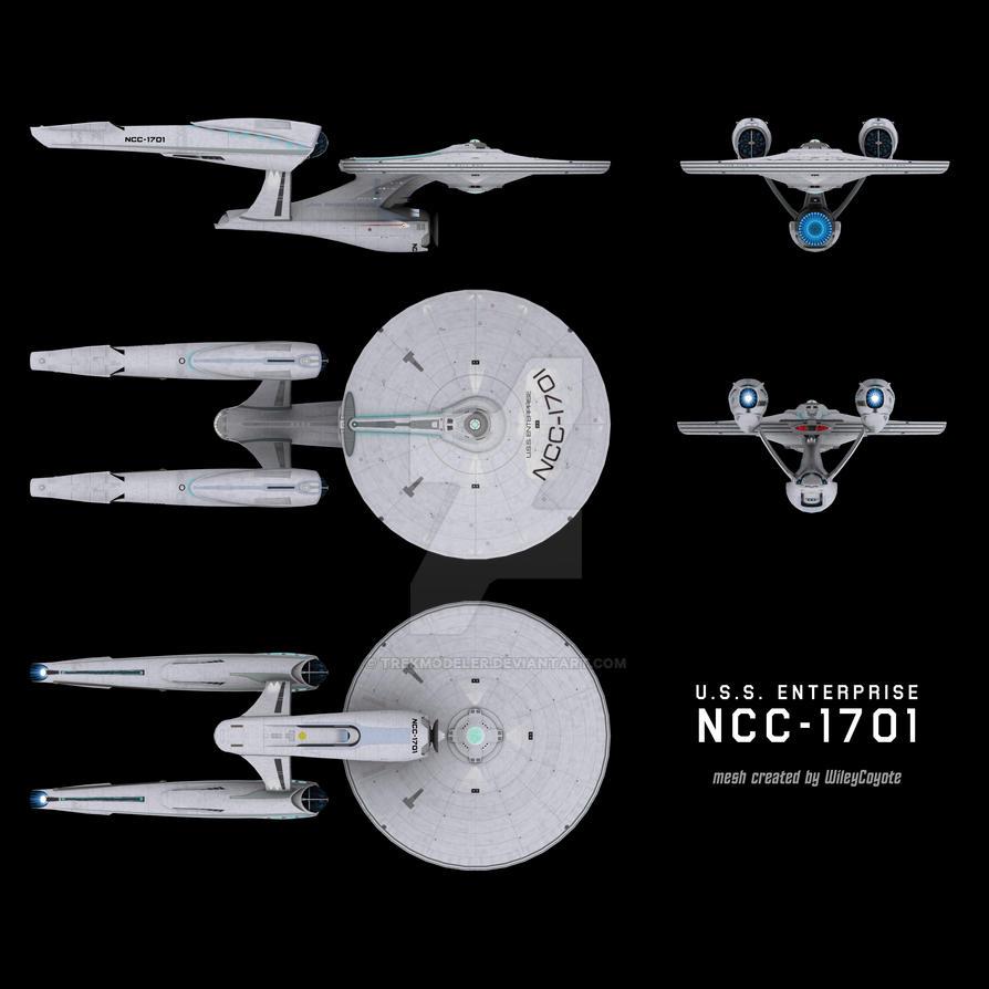 JJ Enterprise schematic by trekmodeler on DeviantArt