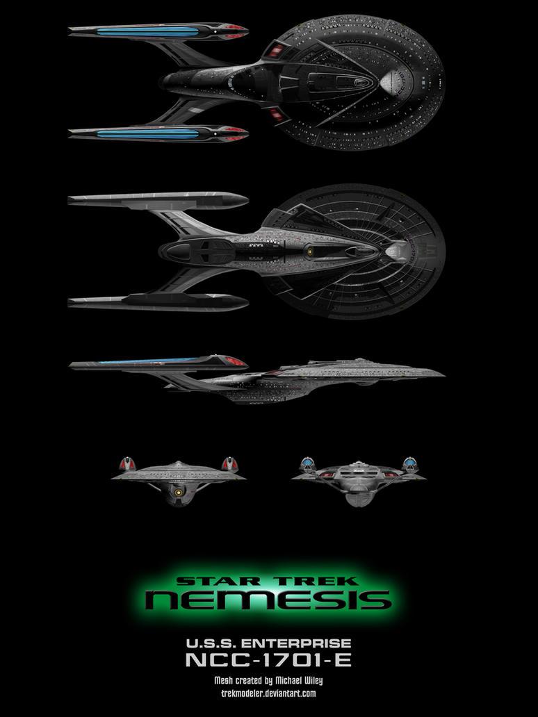 Nemesis Enterprise E Schematic By Trekmodeler On Deviantart Star Trek Engineering Schematics