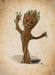 Quickie Sketch- Baby Groot