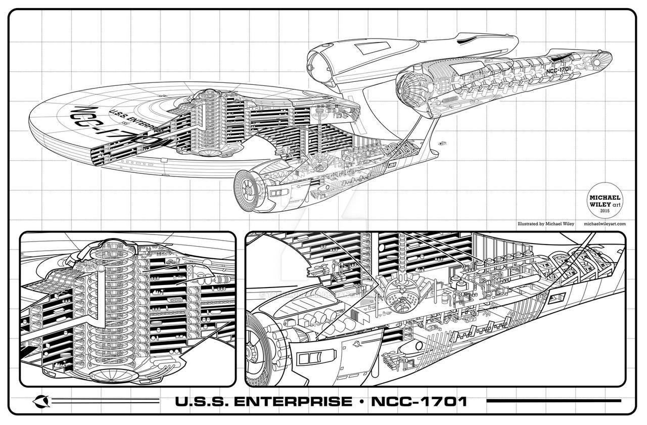 Jj Enterprise Cutaway By Trekmodeler On Deviantart