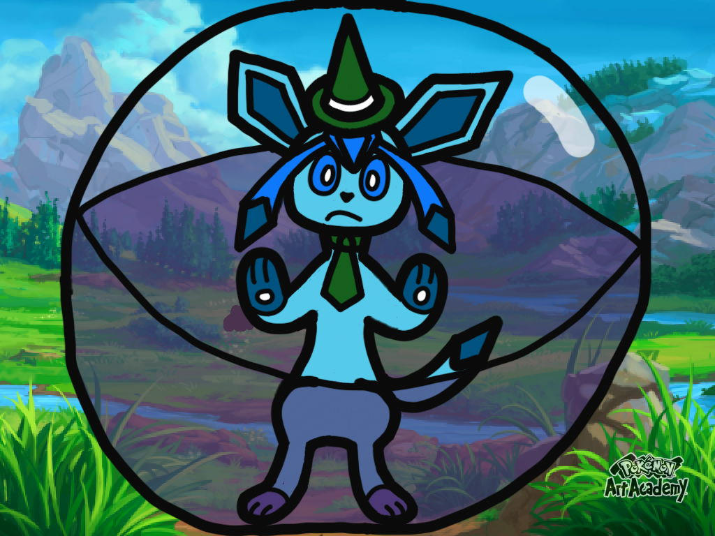 Icey the Glaceon trapped in a Super Monkey Ball!