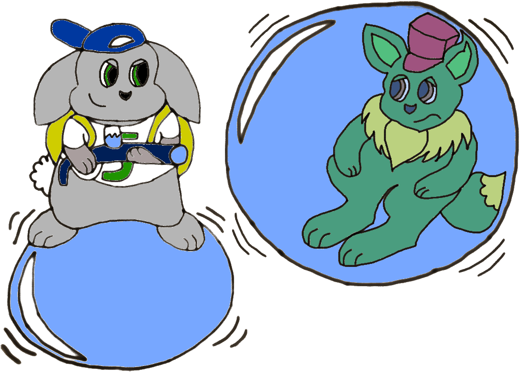 Bunny Captured me in a bubble! (Colored Version) by EeveeProtect