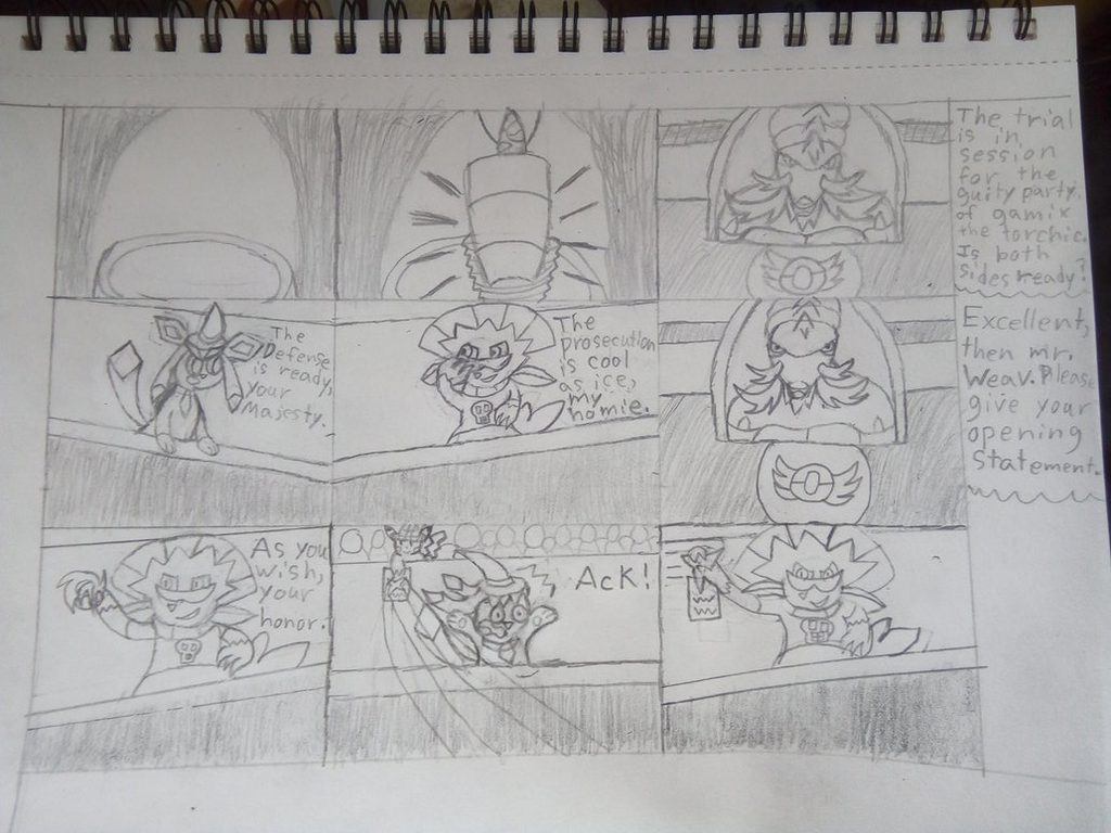 A PMD x AA style comic  by EeveeProtect