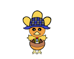 Detective Chirp Torchic Full Body with Color