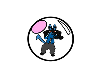 Lucario inside a Bubble Ball (Colored Version)