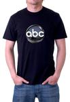 ABC TV NETWORK Black T-shirt