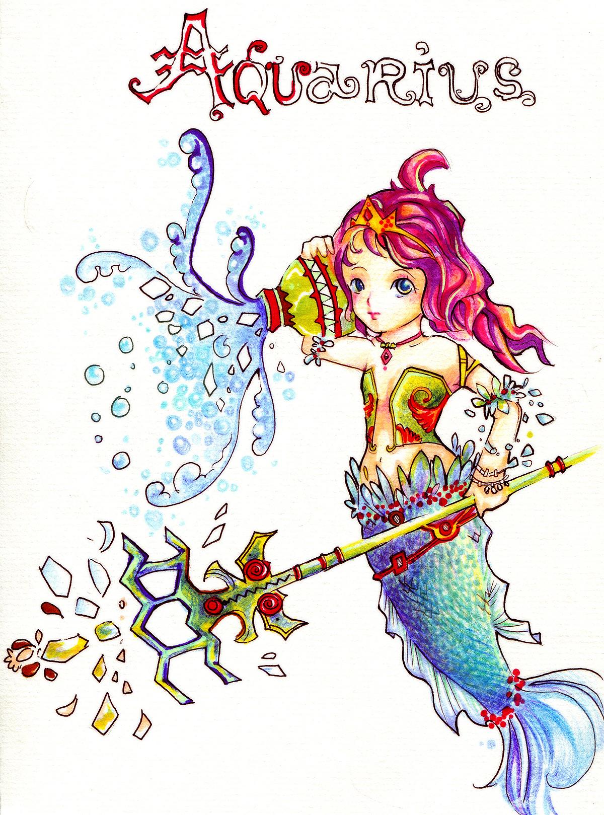 [Zodiac] Aquarius by DNclub17512 on DeviantArt  Anime Aquarius