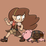 Steampunk Falls Mabel and Waddles