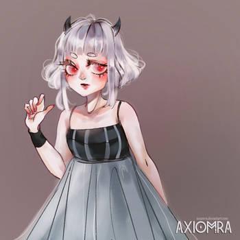 Art trade charming demon-girl Penny