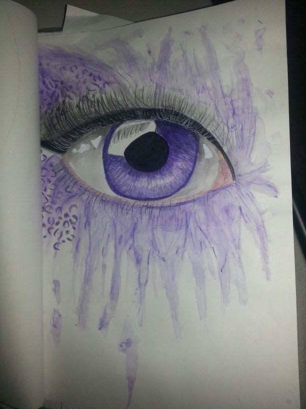 Purple Leo Eye by Meowkittenunicorn