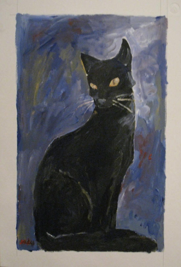 Black Cat by silver-phish