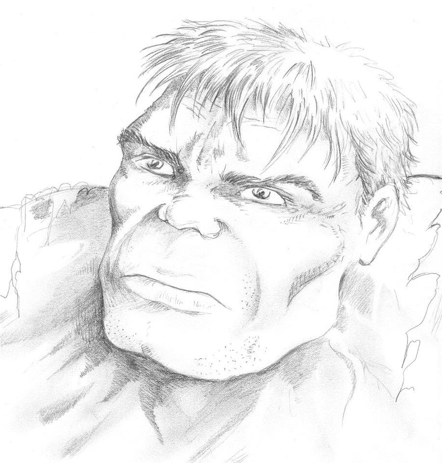 Hulk Face Line Drawing : Hulk face by kleinaar on deviantart