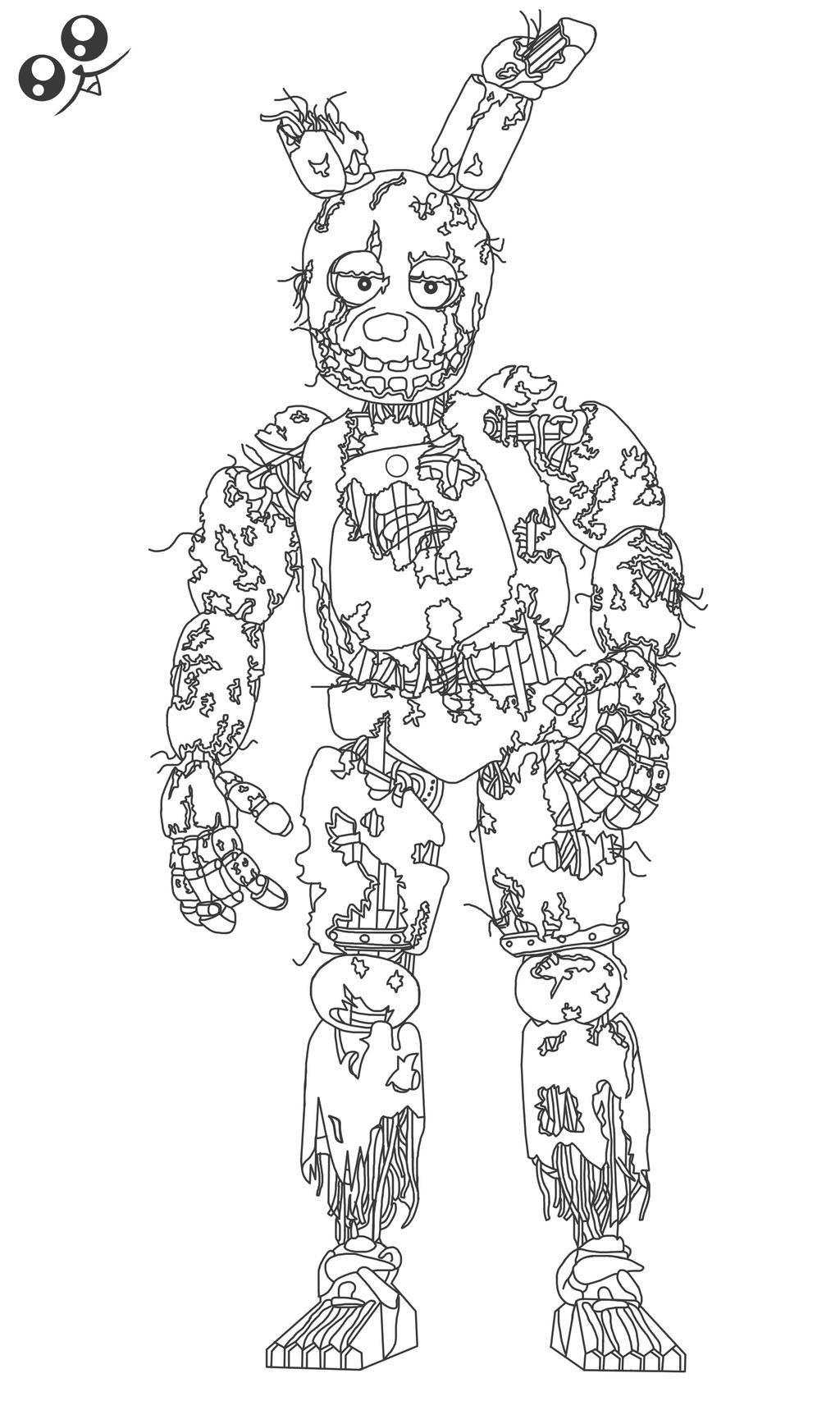 Spring trap fnaf free colouring pages for Fnaf coloring pages nightmare