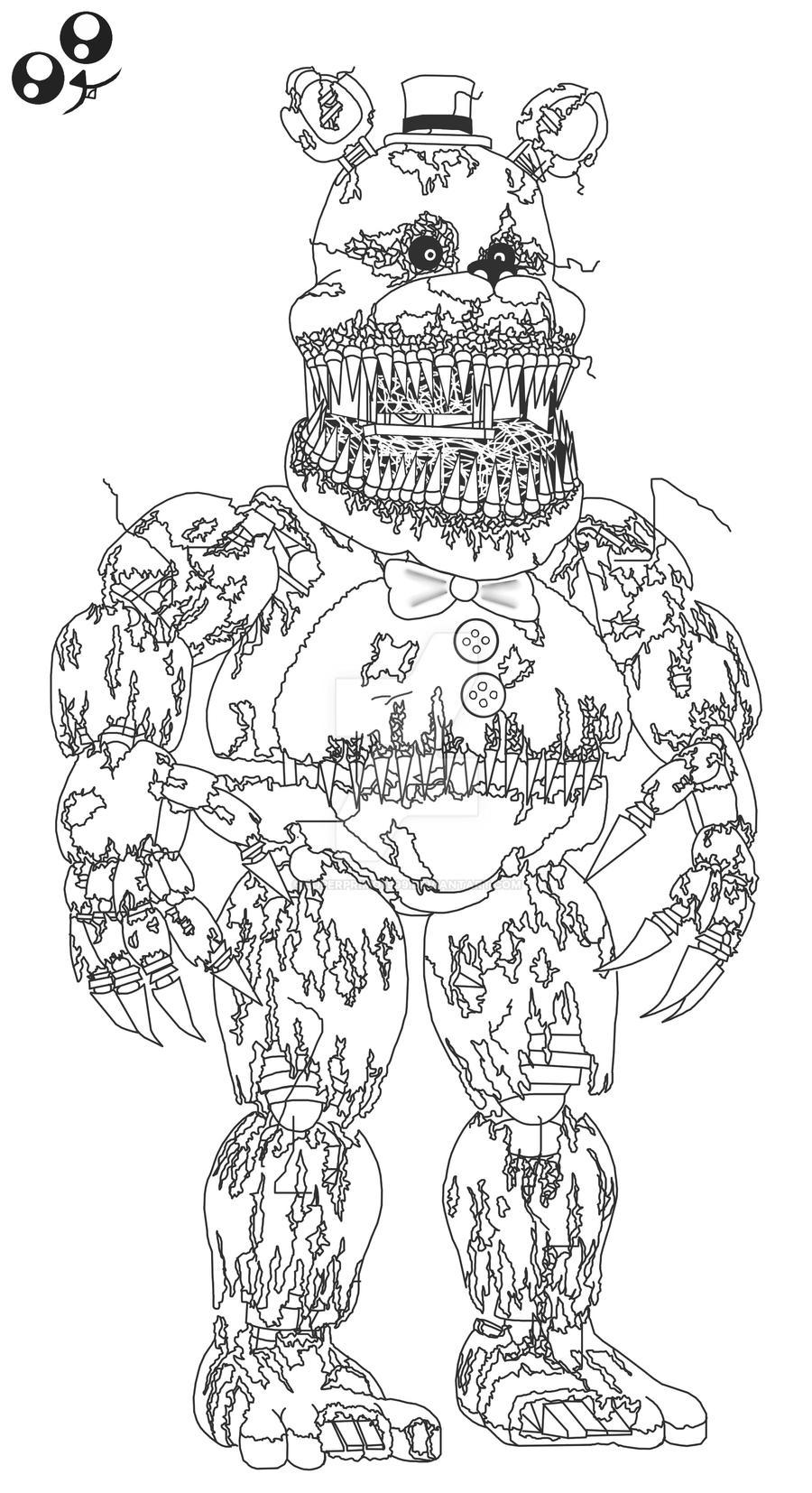 fnaf coloring pages nightmare nightmare fredbear fnaf4 by superprimo1999 on deviantart