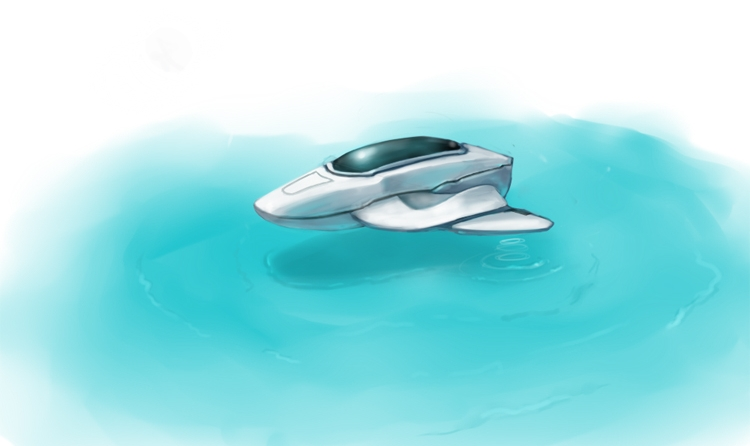 Futuristic Boat by KriGH