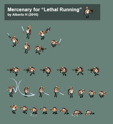 Lethal Running - Mercenary sprites