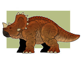 Southron Ceratopsian by McSlackerton