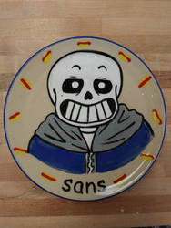 Sans Plate by InvaderSasha