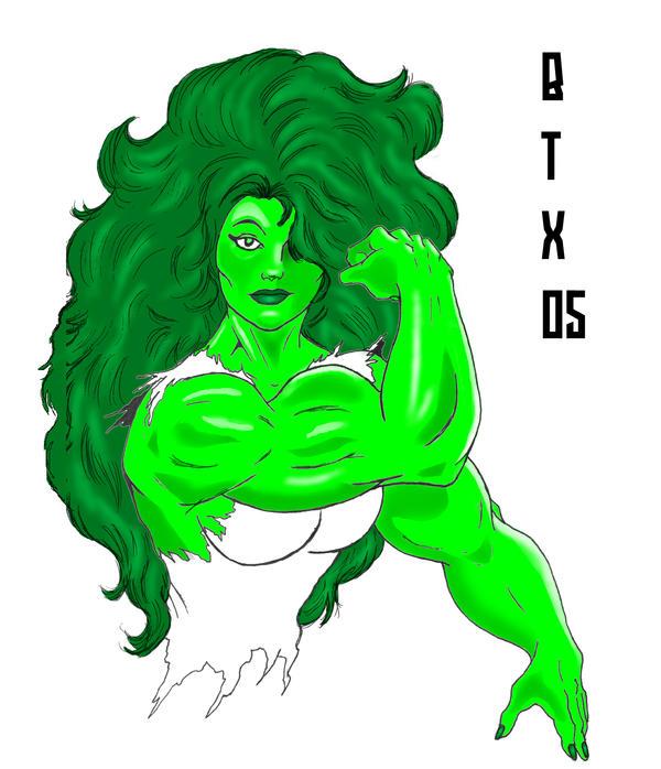 She Hulk Flexin'. by BrianThomasX
