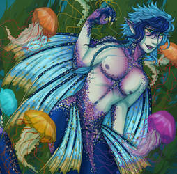 MerMay - Swimming with the Jellyfish by the-attic-keeper