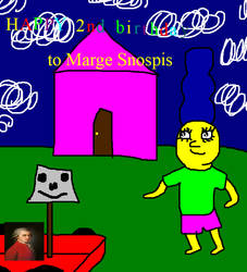 Happy 2nd birthday to Marge Snospis