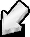 Silver arrow icon by diamondlightart