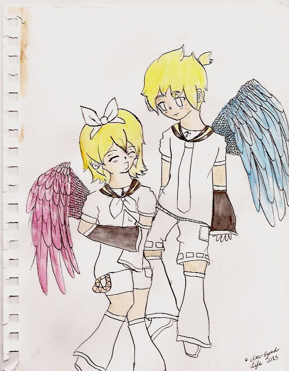Rin And Len Kagamine Electric Angel Rin And Len Electric Angel