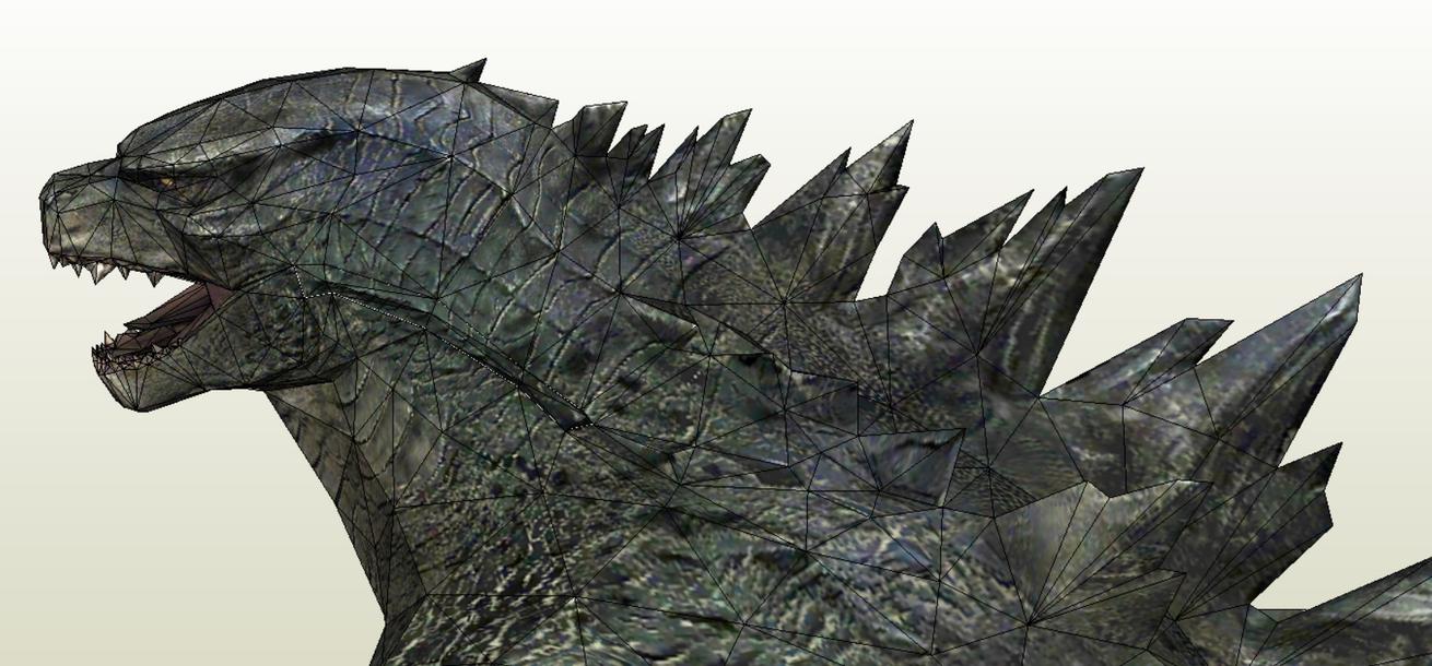 Godzilla head 1 by Alejandr0-M