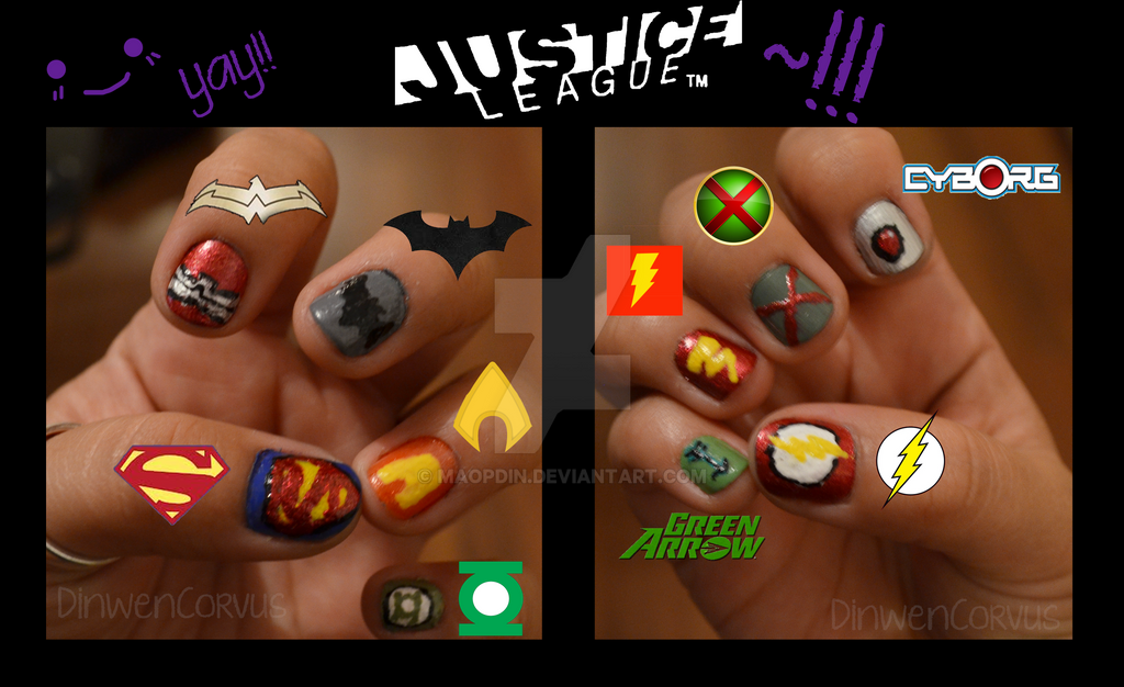 Justice League Nails by MaopDin on DeviantArt