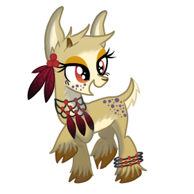 MLP OC Gazelle Page Doll by Kazziepones