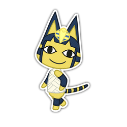 Ankha -ACNL Sticker by Kazziepones