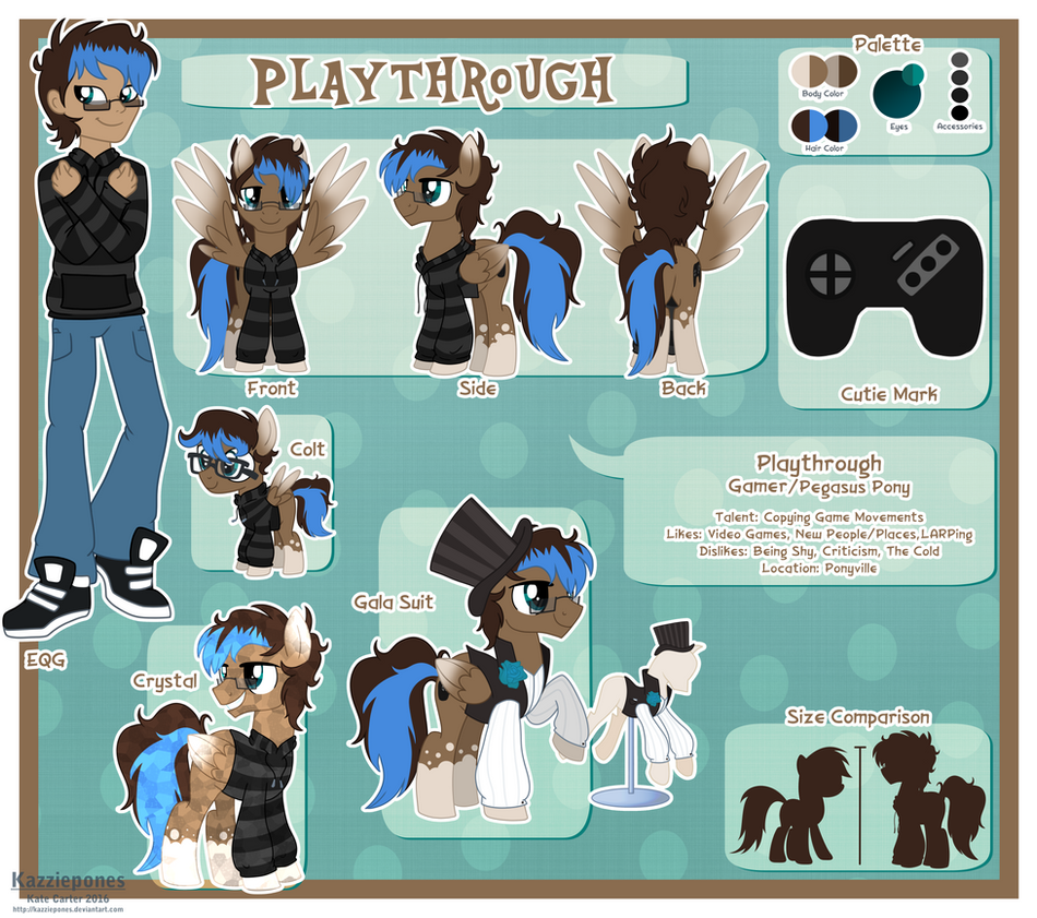 Playthrough Reference Sheet by Kazziepones