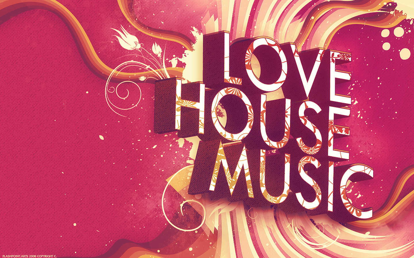I love house music wallpaper by 88pixels on deviantart for House music house