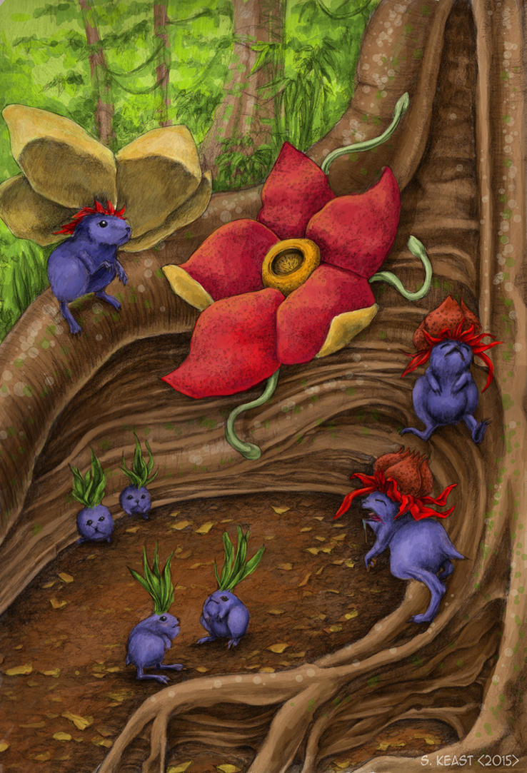 Realistic Oddish Evoloutions by Typthis