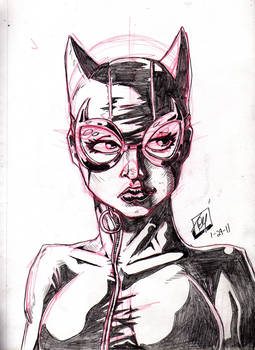 Catwoman Sketch 01