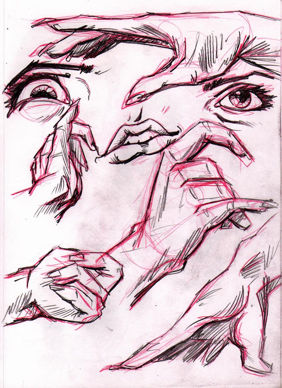 Sketchbook Hand Eye Study 1