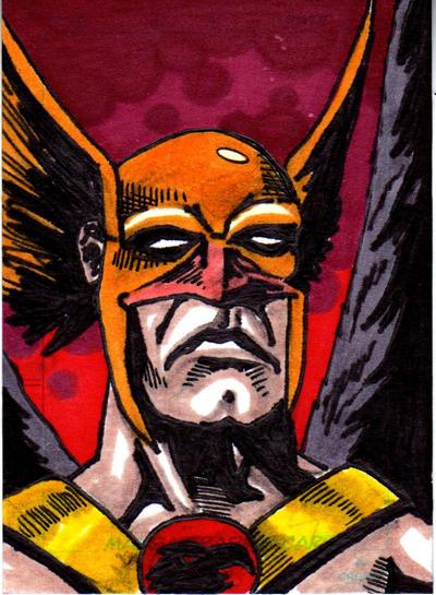 Hawkman Sketch Card no1