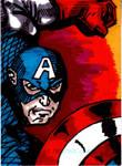 Cap'n America Sketch Card no1