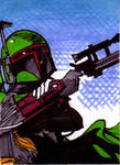 Boba Fett Sketch Card no1