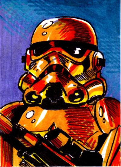 Imperial Stormtrooper Sketch Card no1