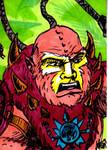MOTU Beastman Sketch Card no1
