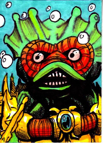 MOTU Mer-Man Sketch Card no1