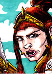 MOTU Teela Sketch Card no1