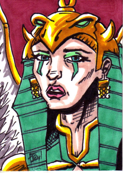 MOTU The Sorceress Sketch Card no1