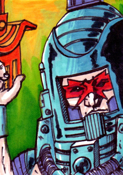 MOTU Man-E-Faces Sketch Card no1
